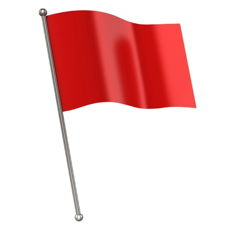 the pennant: red flag isolated  Stock Photo