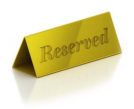 Illustration of reservation sign  Stock Illustration - 12557972