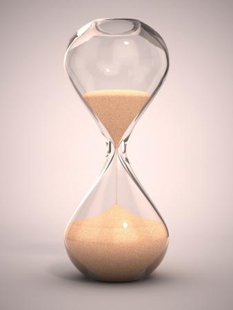 hourglass, sandglass, sand timer, sand clock 3d illustration