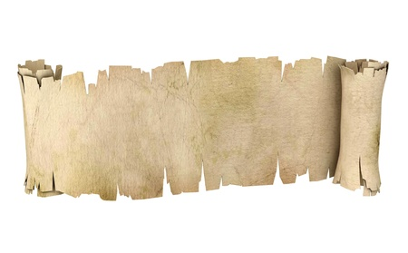 ancient books: parchment banner 3d illustration