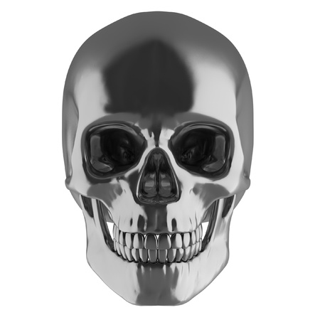 voodoo: silver skull  Stock Photo