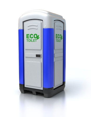 excretion: portable toilet  Stock Photo