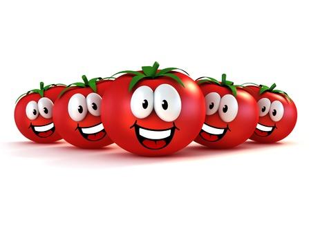 vegetable cartoon: funny cartoon tomatoes