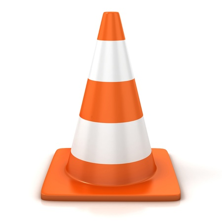 traffic cone isolated over white Stock Photo - 12557893
