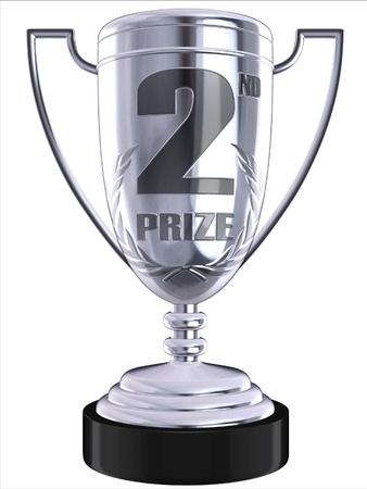 bronze bowl: second prize 3d trophy