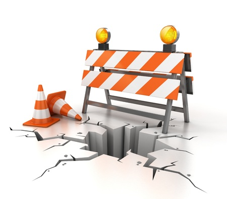 traffic cone: under construction 3d illustration  Stock Photo
