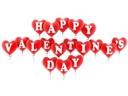 valentine s: happy valentine s balloons Stock Photo