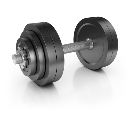 kilos: weight isolated on white 3d illustration  Stock Photo