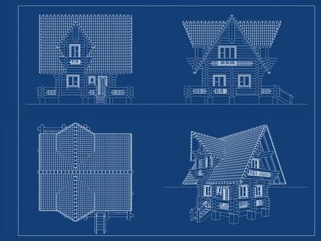 log-house blueprint  photo