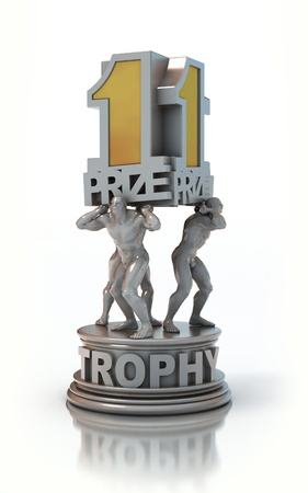 first prize trophy  photo