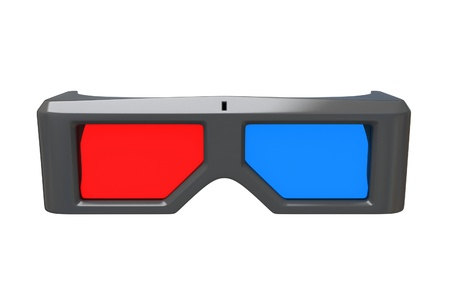 Stock Photo  3d glasses isolated photo