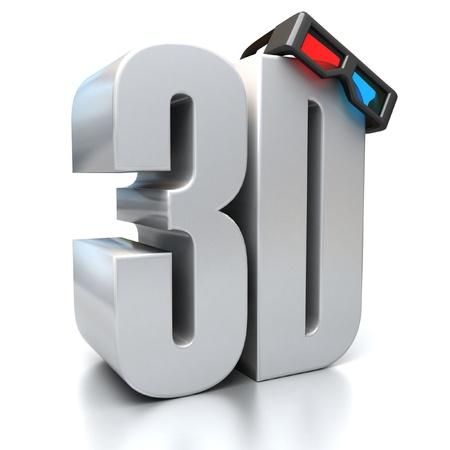 3D-Zeichen mit Brille Standard-Bild