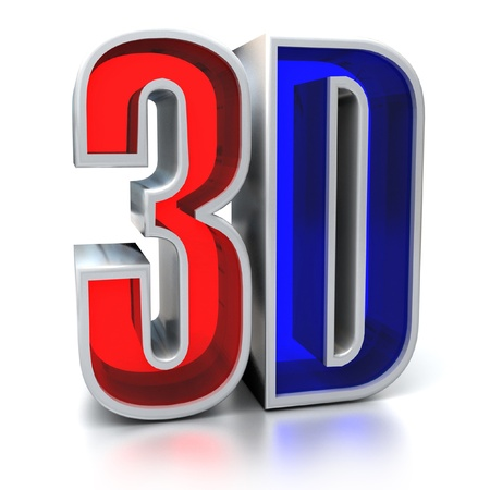 anaglyph: 3d movie sign