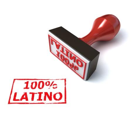 Latino stamp  Stock Photo - 12557714