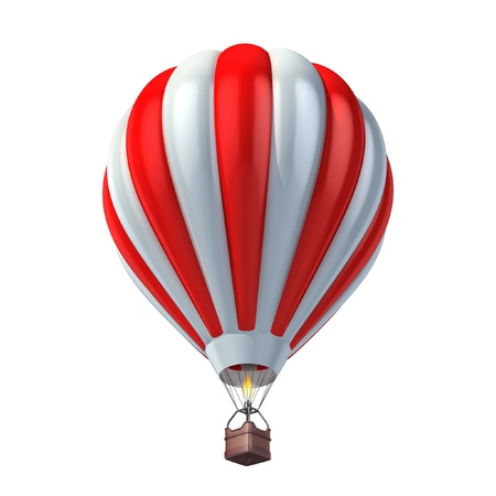 air sport: air balloon 3d illustration