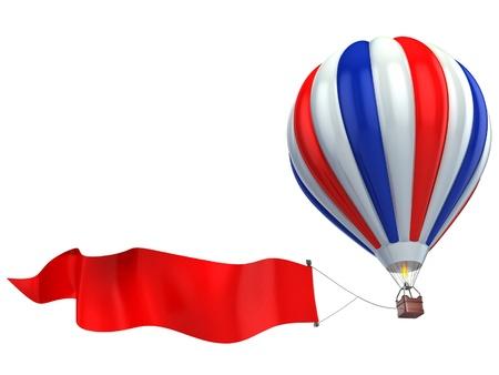 hot announcement: Publicidad de aire del globo Foto de archivo