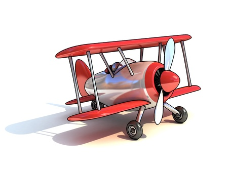 cartoon like airplane 3d illustration isolated on white background  illustration