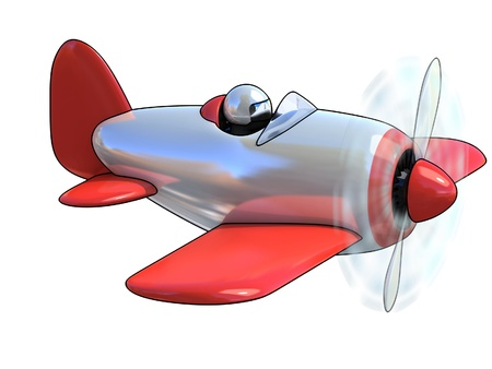 jet engine: cartoon like airplane 3d illustration isolated on white background