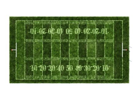 football players: Campo de f�tbol americano aislado sobre fondo blanco