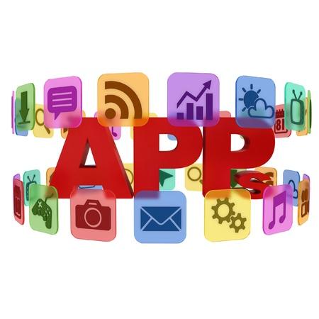 application app icons 3d concept  photo