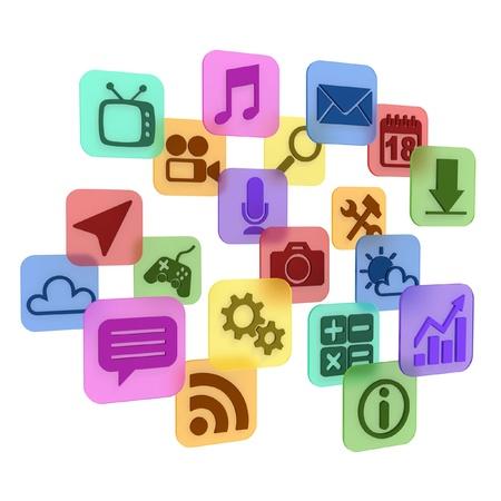 application - app icons 3d concept  photo