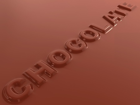 hot liquid chocolate letters abstract 3d background  photo
