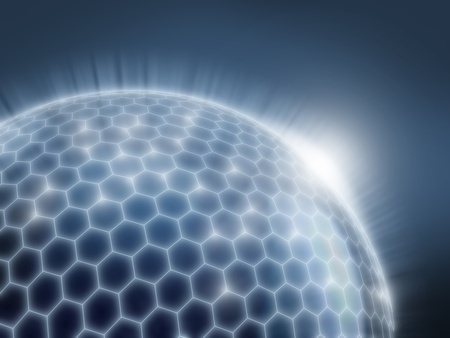 globe illustration: abstract sphere as a global network 3d illustration