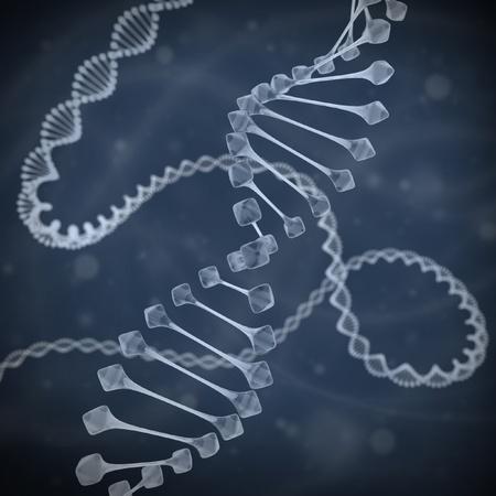 raytrace: DNA 3d illustration  Stock Photo