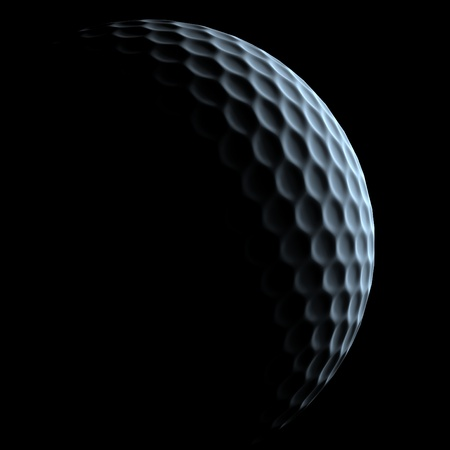 3d ball: golf ball over dark background
