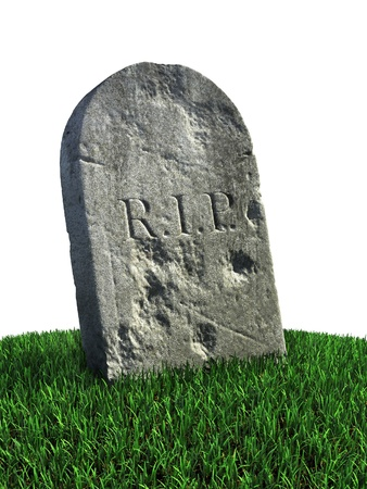 gravestone on the grass  photo