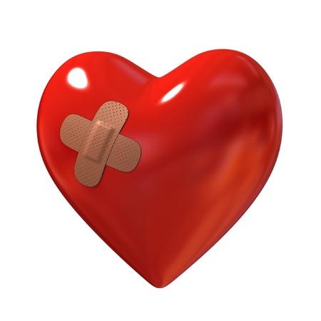 plastic heart: cuore con intonaco