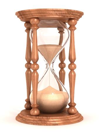 orologi antichi: clessidra, clessidra, clessidra, clessidra isolato su bianco illustrazione 3d