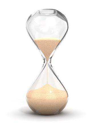 sand clock: clessidra, clessidra, clessidra, clessidra isolato su bianco illustrazione 3d