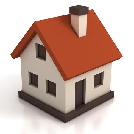 model houses: house icon 3d illustration