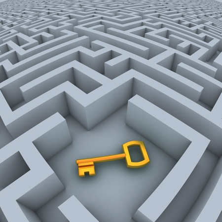 maze game: key in labyrinth
