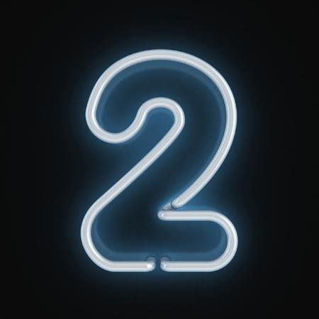 tubos fluorescentes: número de la fuente de neón dos