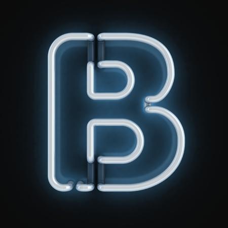 b: neon font letter b