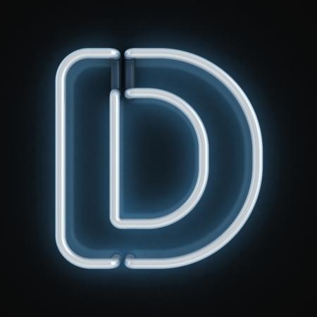 letter d: neon font letter d