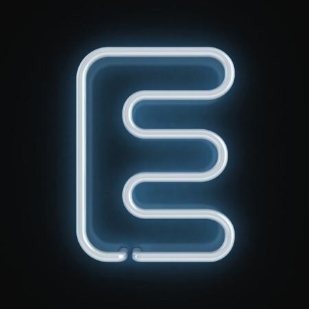 neon font letter e  photo