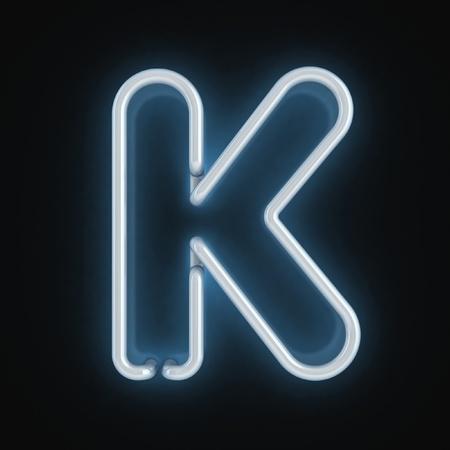 neon font letter k Stock Photo - 12557691