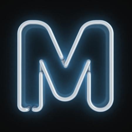 neon font letter m Stock Photo - 12557689