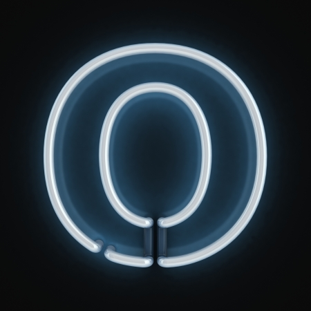 tubos fluorescentes: de neón tipo de letra o