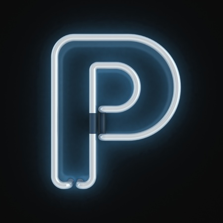 neon font letter p  Stock Photo - 12557710