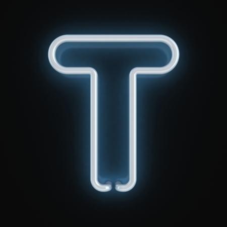 fluorescent tubes: neon font letter t