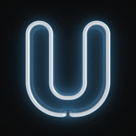 tubos fluorescentes: de neón tipo de letra u