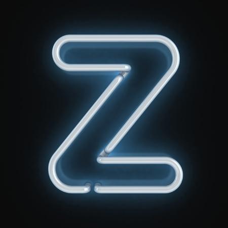 letter z: neon font letter z  Stock Photo