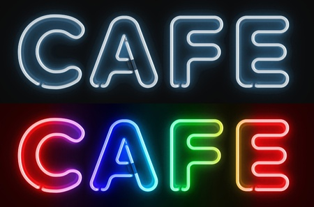 cafe neon sign  photo