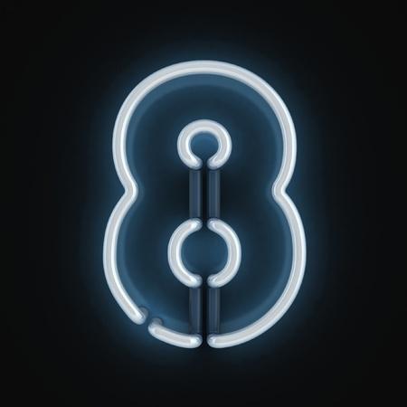 tubos fluorescentes: número de fuentes de luz de neón ocho Foto de archivo