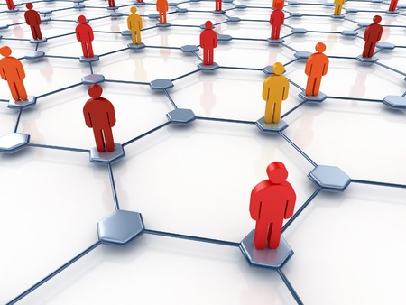 technology backgrounds: social network abstract  Stock Photo
