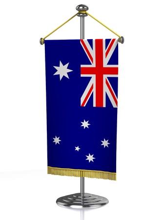 Australia table flag isolated on white  photo